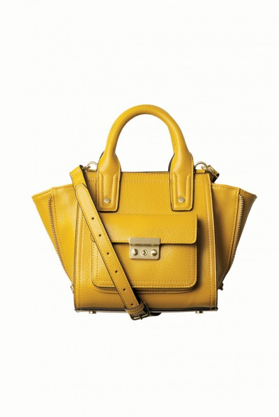 canary yellow trapeze bag