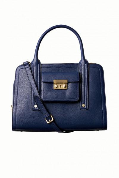 cobalt satchel
