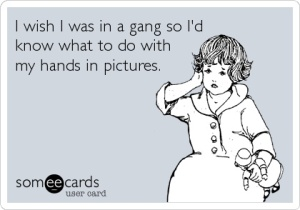 ecard Gang signs in pics