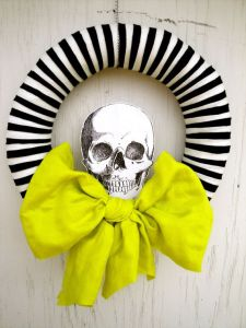pinterest - chic skull wreath