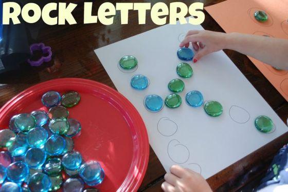 pinterest - rock letters