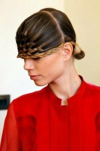 forehead braid
