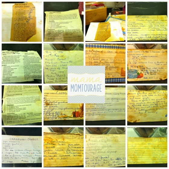 Mom's old recipes Collage