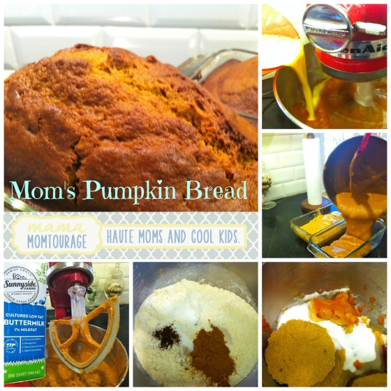Mom's pumpkin bread Collage
