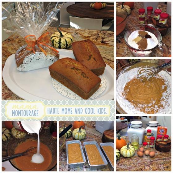 pumpkin bread Collage