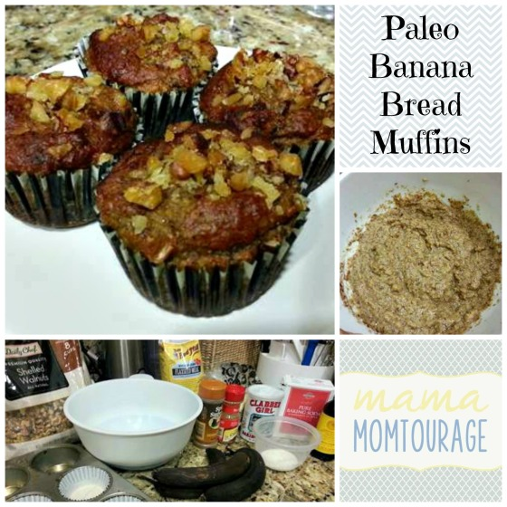 Paleo Banana bread muffins Collage