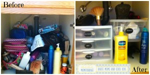 undersink - before and after collage
