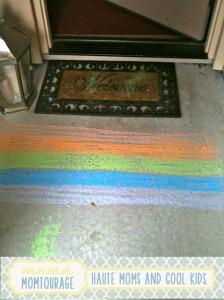 entrance with rainbow
