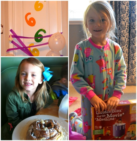 6th birthday collage