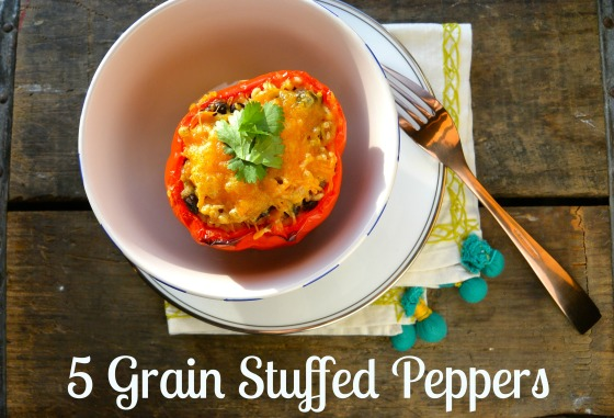 5 Grain Stuffed Peppers