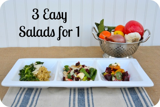 3 Easy Salads for 1
